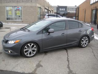 Used 2012 Honda Civic Si 4dr manual Nav lower suspension Cold Air Intake for sale in North York, ON