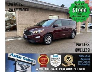 Used 2019 Kia Sedona LX* B.cam/B.tooth/8seater/Power sliding rear doors for sale in Winnipeg, MB