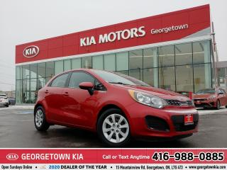 Used 2015 Kia Rio LX+ | 1 OWNER | CLEAN CARFAX | 6 SPD M/T | 46,348K for sale in Georgetown, ON