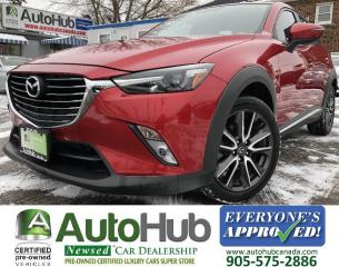 Used 2017 Mazda CX-3 GT/Leather/Sunroof/Nav/Back Up Cam/Heads Up display! for sale in Hamilton, ON