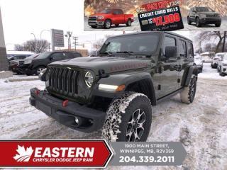 New 2021 Jeep Wrangler Rubicon    Removeable Hard Top   Blind Spot Det.   for sale in Winnipeg, MB