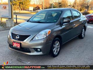 Used 2012 Nissan Versa SL|LOW KM|SINGLE OWNER|NAVI|BLUETOOTH|CERTIFIED for sale in Oakville, ON