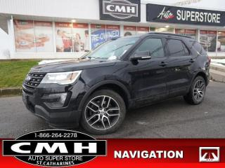 Used 2016 Ford Explorer Sport  NAV CAM ROOF LEATH HTD-SEATS 7-PASS for sale in St. Catharines, ON