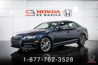 Used 2018 Audi A4 PROG + S-LINE + NAVI + AWD + TOIT + WOW! for sale in St-Basile-le-Grand, QC