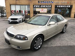 Used 2004 Lincoln LS 4dr Sdn V8 Auto Sport-HEATED COOLED SEATS-SUNROOF for sale in North York, ON