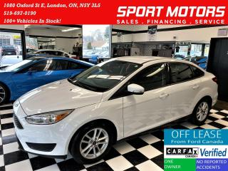 Used 2017 Ford Focus SE+Heated Seats & Steering+Camera+ACCIDENT FREE for sale in London, ON