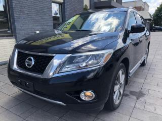 Used 2014 Nissan Pathfinder PLATINUM-4WD-7SEATER-TOWING PACKAGE for sale in Nobleton, ON