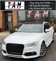 Used 2015 Audi A3 2.0T S-Line Sunroof Leather Bluetooth Clean Carfax No Accident for sale in North York, ON