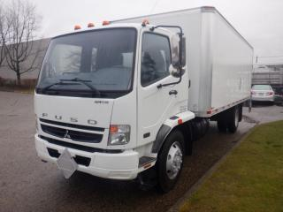 Used 2008 Mitsubishi Fuso 20 Foot Cube Van Diesel Power TailGate with Airbrakes for sale in Burnaby, BC