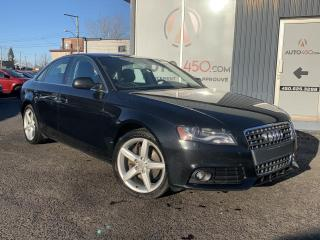 Used 2010 Audi A4 ***PREMIUM,QUATTRO,CUIR,TOIT OUVRANT*** for sale in Longueuil, QC