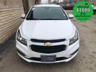 Used 2015 Chevrolet Cruze 1LT* Bluetooth/Reverse Camera/REMOTE START for sale in Winnipeg, MB