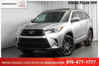 Used 2017 Toyota Highlander *SE RARE!!* SIEGES CAPITAINES + ACCENTS NOIRS for sale in Drummondville, QC