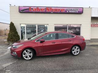 Used 2017 Chevrolet Cruze Premier Auto Premier NAVIGATION for sale in Tilbury, ON