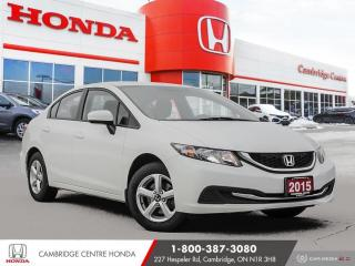 Used 2015 Honda Civic LX BLUETOOTH | HEATED SEATS | REARVIEW CAMERA for sale in Cambridge, ON