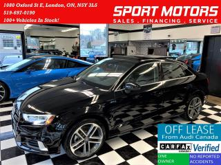 Used 2017 Audi A3 2.0T Progressiv+Camera+ApplePlay+ACCIDENT FREE for sale in London, ON