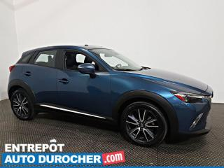 Used 2018 Mazda CX-3 GT AWD NAVIGATION - TOIT OUVRANT - CUIR - A/C for sale in Laval, QC