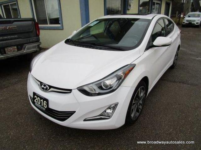 2016 Hyundai Elantra LOADED LIMITED EDITION 5 PASSENGER 2.0L - DOHC.. ACTIVE-ECO-PACKAGE.. NAVIGATION.. LEATHER.. HEATED SEATS.. POWER SUNROOF.. BACK-UP CAMERA..