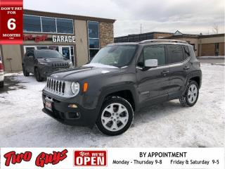 Used 2018 Jeep Renegade Limited | Nav | Leather | Remote Start | My Sky Ro for sale in St Catharines, ON
