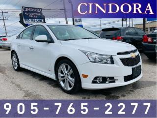 Used 2013 Chevrolet Cruze LTZ Turbo, Heated Seats, Sunroof, Leather for sale in Caledonia, ON