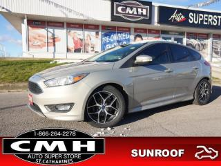 Used 2015 Ford Focus SE  CAM BT ROOF HTD-SEATS PADDLE-SHIFT 17-AL for sale in St. Catharines, ON
