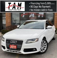 Used 2011 Audi A4 2.0T Sunroof Leather Heated Seats Clean Carfax No Accident for sale in North York, ON