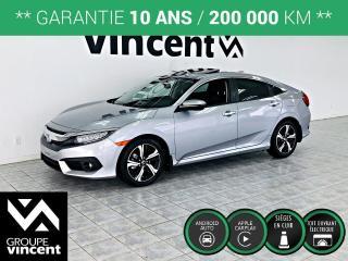 Used 2018 Honda Civic TOURING GPS CUIR TOIT ** GARANTIE 10 ANS ** La version la plus luxueuse de la voiture la plus vendue au Canada! for sale in Shawinigan, QC