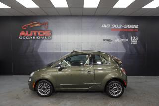 Used 2012 Fiat 500 CONVERTIBLE LOUNGE AUTO CUIR BRUN SIÈGES 62 075 KM for sale in Lévis, QC