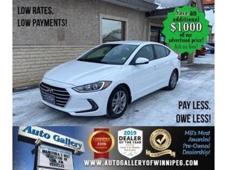 Used 2018 Hyundai Elantra SEL* Heated seats/Apple CarPlay/REMOTE START for sale in Winnipeg, MB