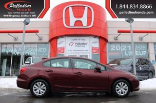 Used 2012 Honda Civic Sdn LX - LOWEST KILOMETERS!!! - for sale in Sudbury, ON