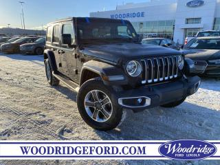 Used 2018 Jeep Wrangler Unlimited Sahara ***PRICE REDUCED*** 3.6L,MANUAL, 4X4, LEATHER HEATED SEATS, NAVIGATION,  NO ACCIDENTS for sale in Calgary, AB