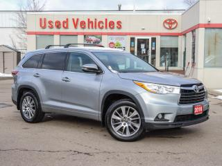 Used 2016 Toyota Highlander XLE YES WE ARE OPEN SUNROOF CAMERA NAVI 1-OWN for sale in North York, ON