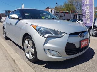 Used 2014 Hyundai Veloster EX - ECO - BK UP CAM - BLUETOOTH - AUX -USB-ALLOYS for sale in Scarborough, ON