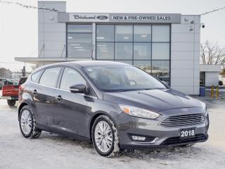 Used 2018 Ford Focus Titanium HEATED LEATHER | MOONROOF for sale in Winnipeg, MB