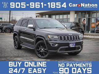 Used 2017 Jeep Grand Cherokee Limited| 4X4| LEATHER| PANO ROOF| NAV| LOCAL TRADE for sale in Burlington, ON