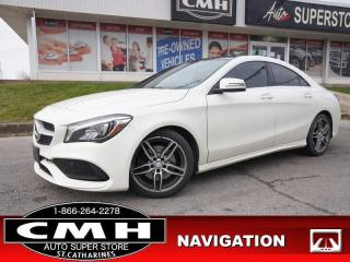 Used 2017 MERCEDES BENZ CLA-Class 250 4MATIC  NAV CAM ROOF HTD-SEATS for sale in St. Catharines, ON