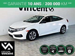 Used 2016 Honda Civic DX ** GARANTIE 10 ANS ** Roulez en Honda Civic à prix abordable! for sale in Shawinigan, QC