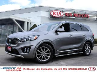 Used 2018 Kia Sorento SXL | AWD | HEATED SEATS | SUNROOF | ADVANCED SAFETY | PUSH START | EVERY OPTION | for sale in Burlington, ON