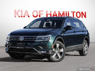 Used 2018 Volkswagen Tiguan Highline Brakes Cleaned & Serviced | No Accidents | Low KM for sale in Hamilton, ON