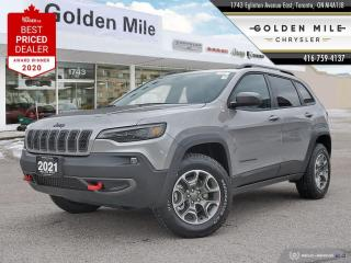 New 2021 Jeep Cherokee Trailhawk Prem Leather Trimmed Bucket Seats, Uconnect(R) 4C NAV w/ 8.4-inch display, Sun and Sound Group,Trail for sale in North York, ON