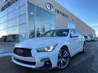 Used 2017 Infiniti Q60 RED SPORT W/ TECHNOLOGY PKG, SILVER OPTIC FIBER TRIM, CPO for sale in Edmonton, AB