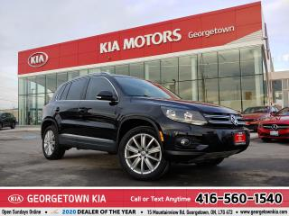 Used 2017 Volkswagen Tiguan COMFORTLINE | CLEAN CARFAX | PANO ROOF | 36,071 K for sale in Georgetown, ON