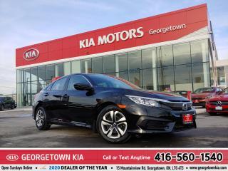 Used 2017 Honda Civic Sedan LX | 1 OWNER | CLEAN CARFAX | B/U CAM | 32,731 KM for sale in Georgetown, ON