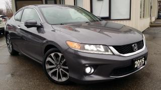Used 2015 Honda Accord EX-L V6 Coupe AT - LEATHER! NAV! BACK-UP/BLIND-SPOT CAM! REMOTE START! for sale in Kitchener, ON