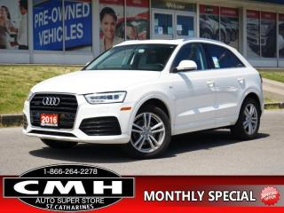 Used 2016 Audi Q3 2.0T quattro Technik  CAM ROOF HTD-SEATS P/GATE for sale in St. Catharines, ON