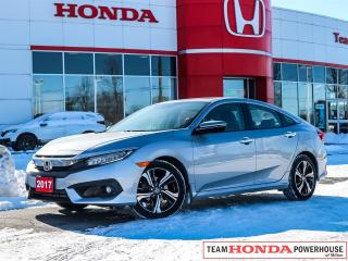 Used 2017 Honda Civic Touring--1 Owner--Fully Loaded--Remote Starter--Honda Sensing--Navi for sale in Milton, ON