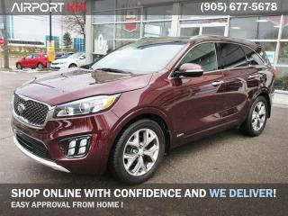Used 2016 Kia Sorento 3.3L SX+/WE ARE OPEN, BOOK YOUR APPOINTMENT/Nappa Leather/AWD/360 Degree Camera/Panoramic Sunroof/NAV for sale in Mississauga, ON