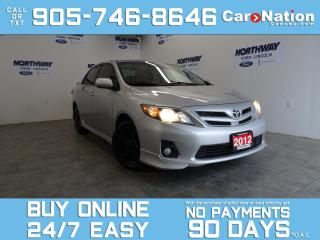 Used 2012 Toyota Corolla S | SUNROOF | ALLOYS | SPOILER | BRAND NEW TIRES for sale in Brantford, ON