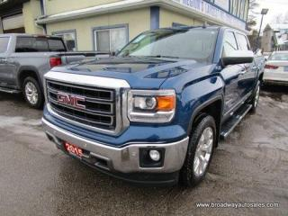 Used 2015 GMC Sierra 1500 LOADED SLT-Z71 EDITION 5 PASSENGER 5.3L - VORTEC.. 4X4.. CREW-CAB.. SHORTY.. NAVIGATION.. POWER SUNROOF.. LEATHER.. HEATED/AC SEATS.. BACK-UP CAMERA.. for sale in Bradford, ON