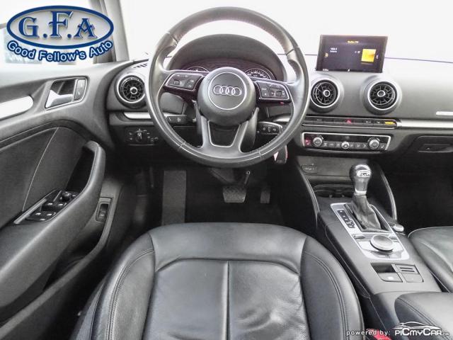 2017 Audi A3 2.0T KOMFORT, AWD, LEATHER & HEATED SEATS, SUNROOF