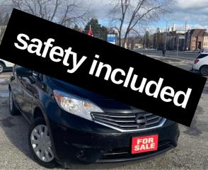 Used 2016 Nissan Versa Note S,safety included for sale in Scarborough, ON